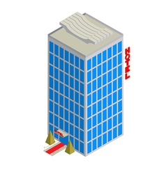 Isometric hotel icon vector