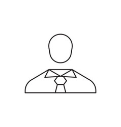 People icon outline vector