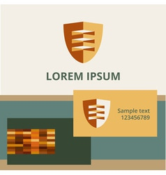 Editable template logo and brand elements vector