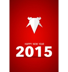 2015 happy new year year of goat vector
