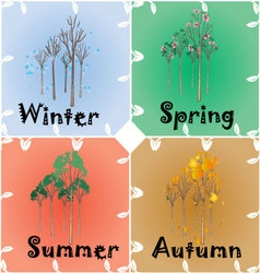 4 seasons change vector