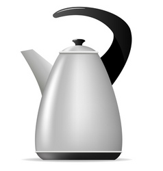 Metal tea kettle vector