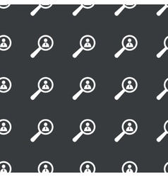 Straight black user details pattern vector
