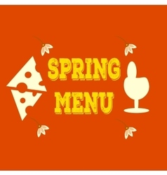 Hand-sketched elements  spring menu veggie vector