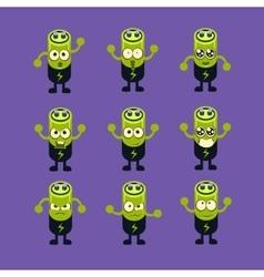 Battery Emoji Character Set vector image