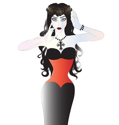Beautiful goth woman vector