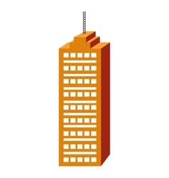 Orange tall building graphic vector