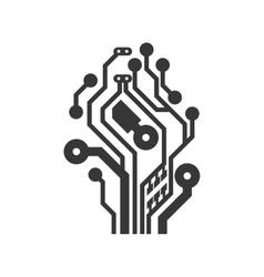 Circuit board icon technology design vector