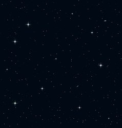 Seamless realistic night sky vector
