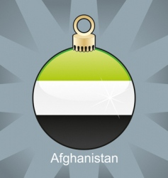 Afghanistan flag on bulb vector image