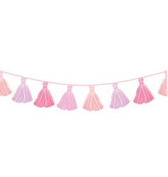 baby girl pink hanging decorative tassels vector image vector image