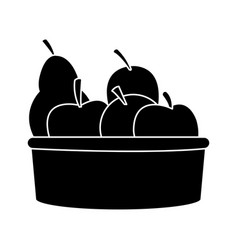 Basket with fruit icon image vector