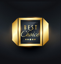Best choice golden label and badge design vector