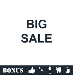Big Sale offer text icon flat vector image vector image