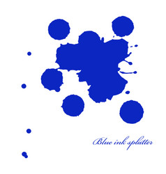 Blue ink splatter on white vector