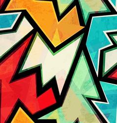 Bright urban geometric seamless pattern vector