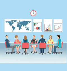 Business meeting conceptual vector