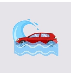 Car Insurance and Flood Risk vector image