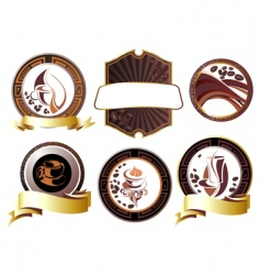 coffee break set vector image