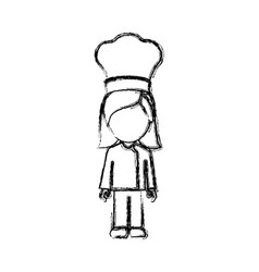 contour woman chef icon vector image vector image