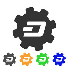 Dash setup gear icon vector