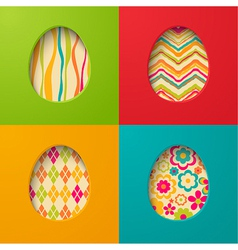 Easter paper cards with egg vector image vector image
