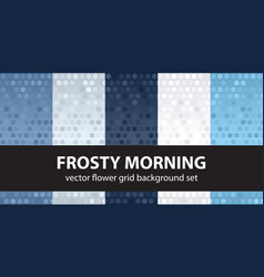 flower pattern set frosty morning seamless vector image vector image