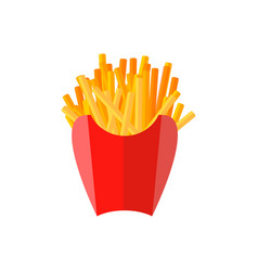 French fries flat icon vector