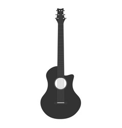 guitar icon logo flat music vector image