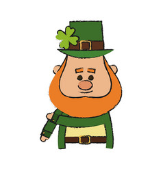 Irish leprechaun icon vector