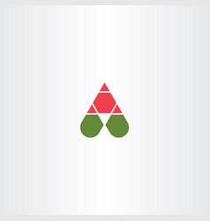 Letter a symbol element design logotype vector