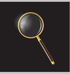 magnifying glass - modern realistic vector image vector image