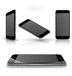 Mobile phone isolated set vector image
