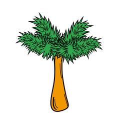 palm tree pop art cartoon vector image vector image