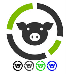 pig diagram flat icon vector image