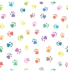 Seamless patterns with prints of animals vector image