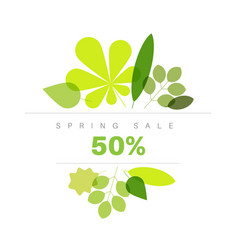 Spring abstract floral background sale label vector