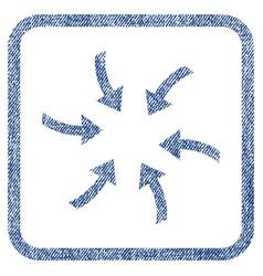 Twirl arrows fabric textured icon vector