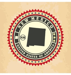 Vintage label-sticker cards of new mexico vector