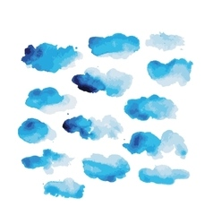 Watercolor clouds for your design vector image