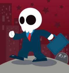 Businessman ghost vector