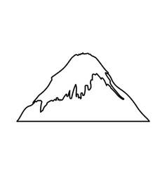 fuji mount japanese icon vector image