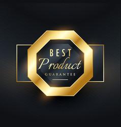 Best product guarantee golden seal label design vector