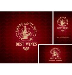 best wines vector image