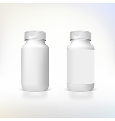 Bottle for dietary supplements and medicines vector