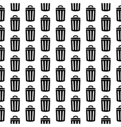 Garbage icon seamless pattern vector
