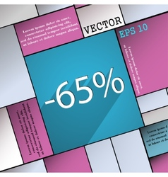 65 percent discount icon symbol flat modern web vector