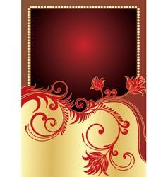 golden poster vector image
