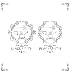 Blacksmith vintage logos vector
