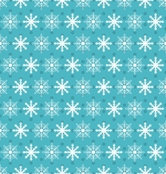 Seamless christmas pattern with xmas snowflakes vector